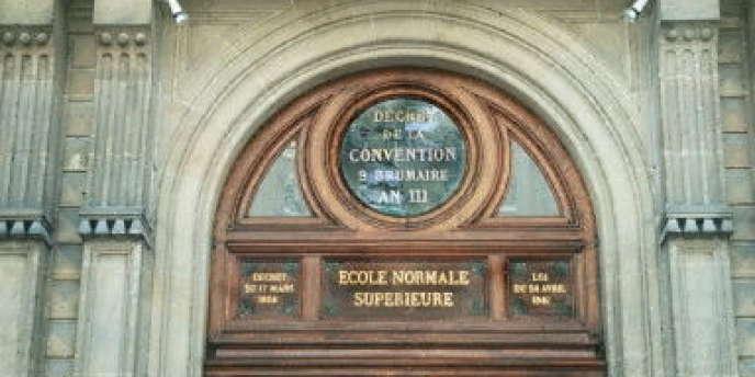 L'entrée de l'Ecole normale supérieure (ENS), rue d'Ulm, à Paris.