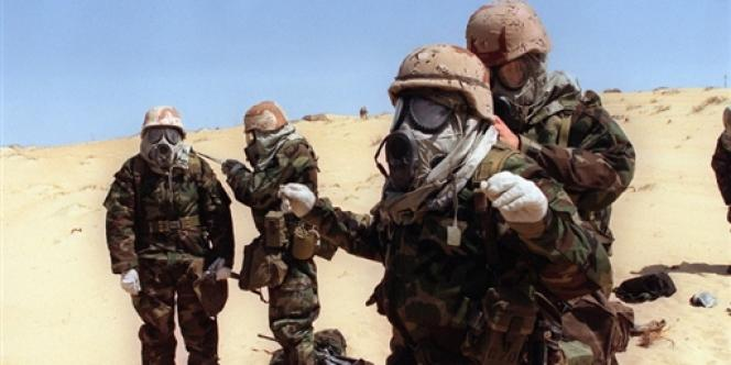 Des soldats américains pris en photo le 23 août 1990, quelques jours après le début de la première guerre du Golfe.