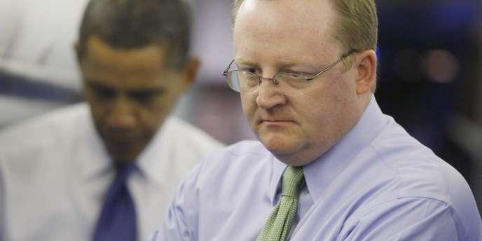 Robert Gibbs, le 10 novembre 2008, quelques jours après l'élection de Barack Obama à la Maison Blanche.