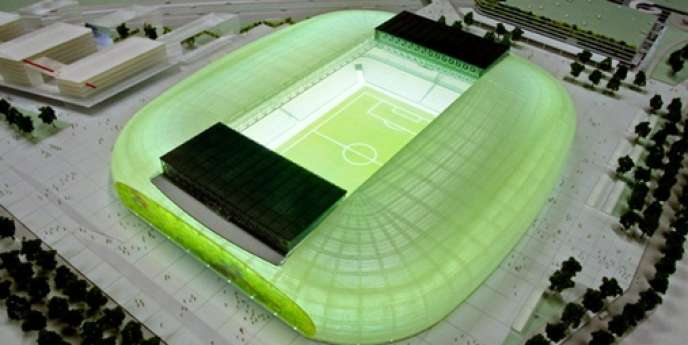 Le futur stade de Lille Métropole qui accueillera l'Euro 2016.