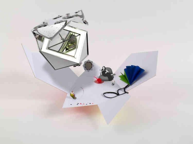 Sémiophore créé par Gérald Petit autour de la minaudière Aurore luminescente imaginée par Mélanie Fontaine (ESAD Strasbourg) pour Van Cleef & Arpels.