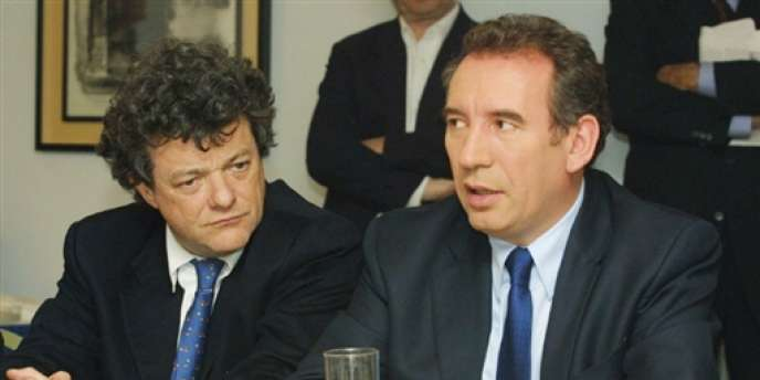 Jean-Louis Borloo et François Bayrou en 2002, pendant la campagne présidentielle. M. Borloo était le directeur de campagne de M. Bayrou.