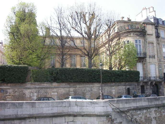 L'hôtel Lambert sur l'île Saint-Louis à Paris.
