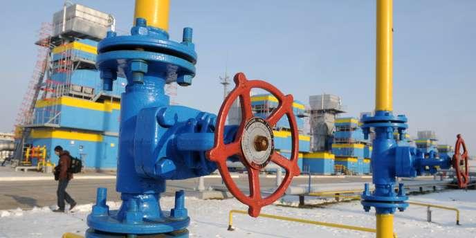 Un site de Gazprom, près de Kiev, en Ukraine.