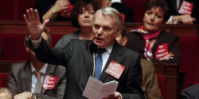 Jean-Marc Ayrault, président du groupe socialiste à  l'Assemblée nationale, lors d'un débat, le 17 décembre 2008.