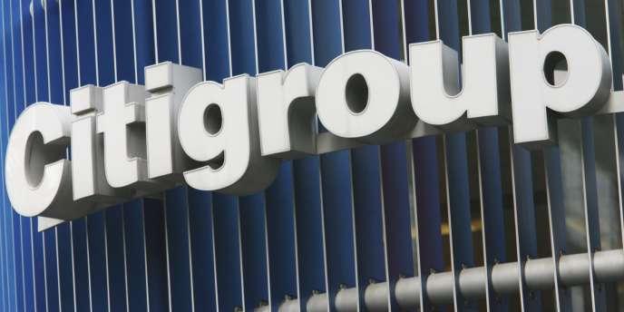 Le logo du géant américain Citigroup, à New York.