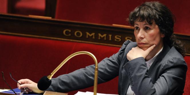 Fadela Amara, en janvier 2009, à l'Assemblée nationale.