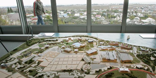 La maquette du village olympique de Sotchi, la ville russe désignée pour accueillir les Jeux olympiques d'hiver en 2014.