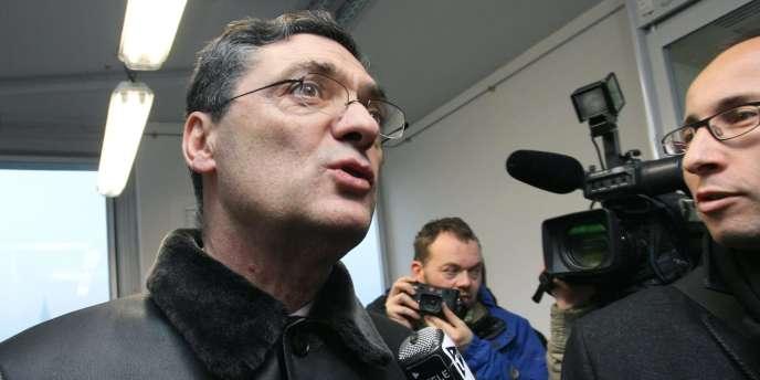 Patrick Devedjian, le 30 décembre 2008 à Strasbourg.