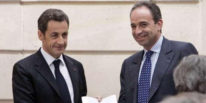 Nicolas Sarkozy, président de la République, et Jean-François Copé, secrétaire général de l'UMP, ici réunis en 2008.