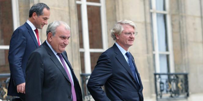 En septembre 2008, les grandes banques françaises étaient déjà réunies à l'Elysée. Au centre, Philippe Dupont, groupe Banque populaire, Baudouin Prot (à droite), BNP-Paribas, Frédéric Oudéa, Société générale.