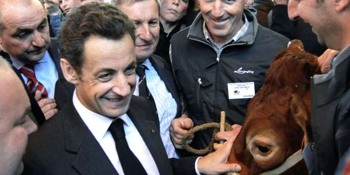 Nicolas Sarkozy, au Salon de l'agriculture 2009 à Paris.