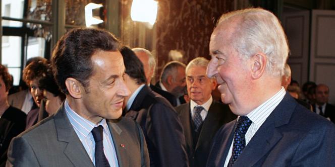Nicolas Sarkozy et Edouard Balladur, le 1er octobre 2008.