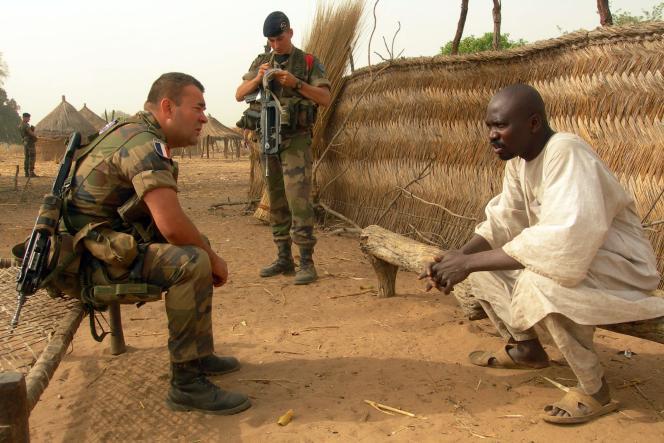 Les forces européennes en Centrafrique, près de Birao, en mars 2013.