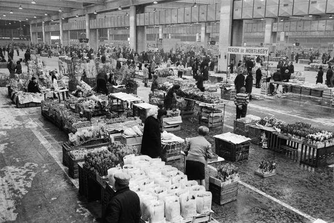 Image d'archives du Marché de Rungis, datée du 3 mars 1969