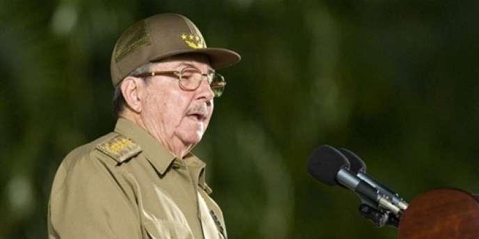 Raul Castro, le président cubain, en juillet 2008.