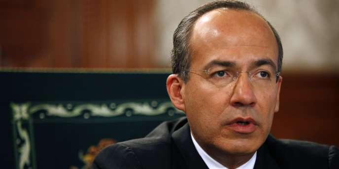 Le président Felipe Calderon, dans son bureau, le 26 février 2009 à Mexico.