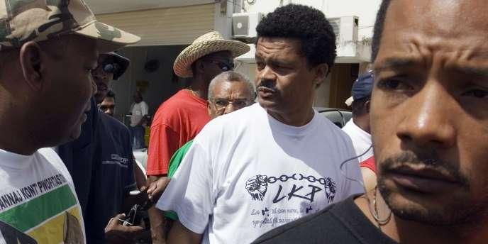 Elie Domota, le leader du Collectif contre l'exploitation, qui avait mené la mobilisation, début 2009 en Guadeloupe, lors de quarante-quatre jours de grève générale.