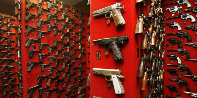 La collection d'armes de la police métropolitaine de Washington.