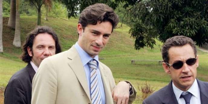Laurent Solly et Nicolas Sarkozy, le 9 mars 2006.