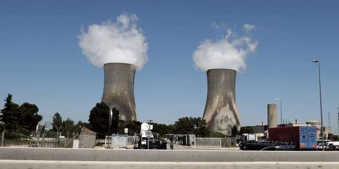 Le site nucléaire de Tricastin en juillet 2008.