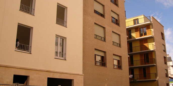 Des logements sociaux en construction dans le 19e arrondissement de Paris.