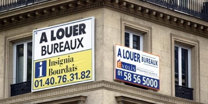 A Paris, 1,4 million de mètres carrés étaient vides à fin juin 2012.