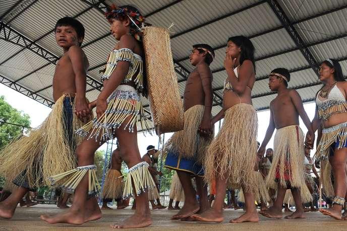 Des Indiens de la réserve Raposa Serra do Sol, située dans le nord du Brésil.