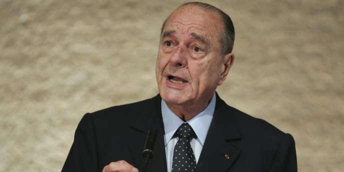 L'ancien président, Jacques Chirac, lors d'une conférence le 27 mars 2009.