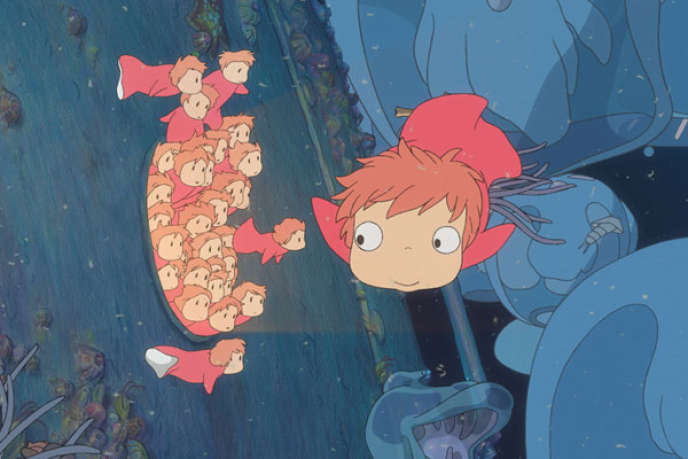 """Le film d'animation japonais d'Hayao Miyazaki, """"Ponyo sur la falaise"""" (2009)."""