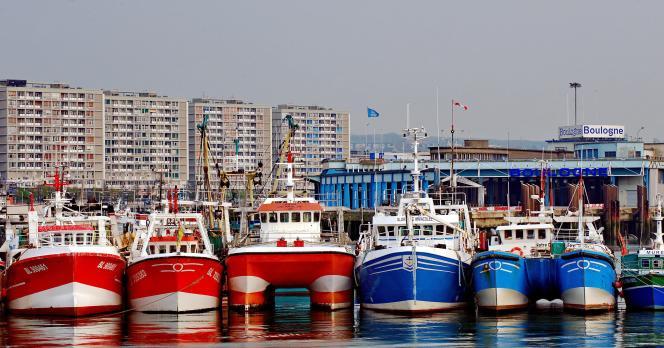 Le port de Boulogne-sur-Mer.