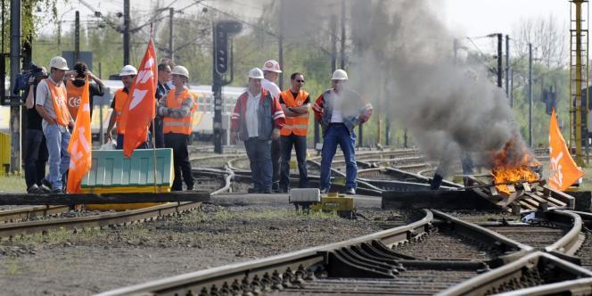 A Florange, le 15 avril 2009.