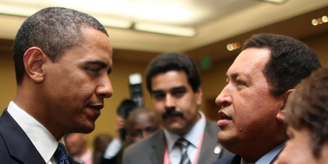 Barack Obama et son homologue vénézuélien Hugo Chavez, en avril 2009.
