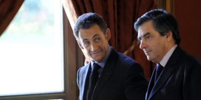 François Fillon  et Nicolas Sarkozy en 2008.