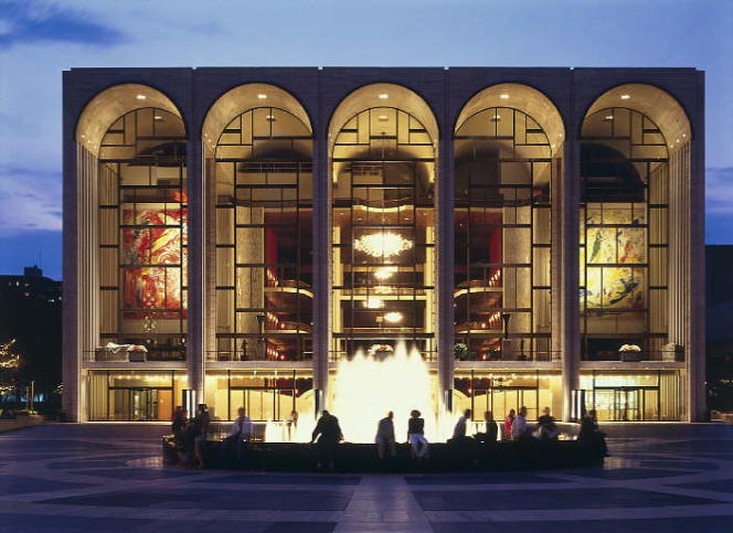 Vue du Metropolitan Opera de New York.