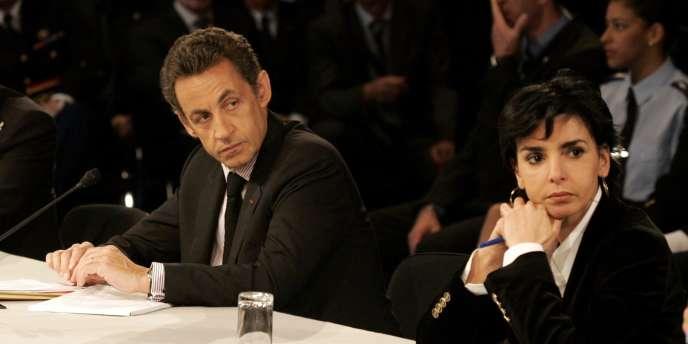 Nicolas Sarkozy et Rachida Dati, le 21 avril à Nice.