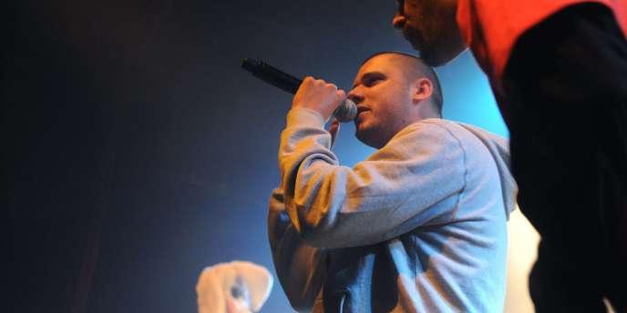 Le rappeur Orelsan en concert au Printemps de Bourges, le 25 avril 2009.