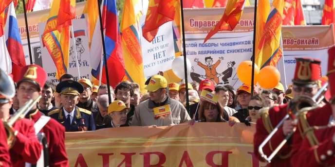 Manifestation du 1er mai en Russie.