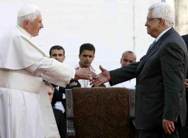 Le pape Benoît XVI a appelé à la création d'un Etat palestinien lors d'une visite à Bethléem, en Cisjordanie.