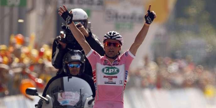 L'Italien Danilo Di Luca, ici lors du Giro 2009.