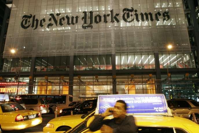 Vue de l'immeuble du «New York Times», le 21 mai 2009.