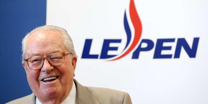 Jean-Marie Le Pen, le 10 mai 2009, lors d'une conférence à Marseille.