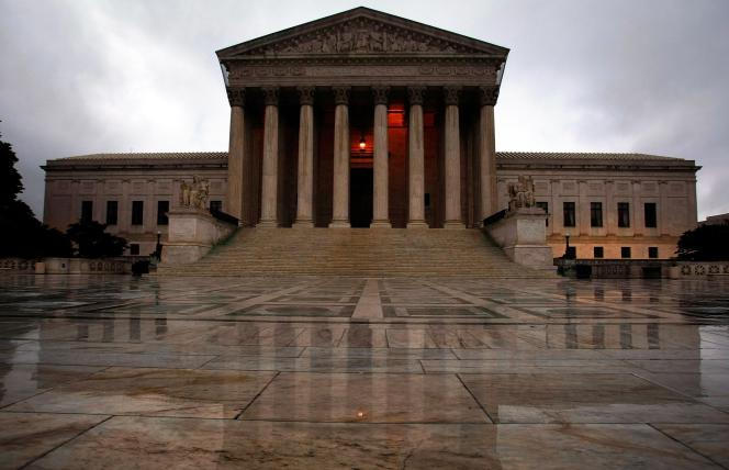 La Cour suprême des Etats-Unis, à Washington.