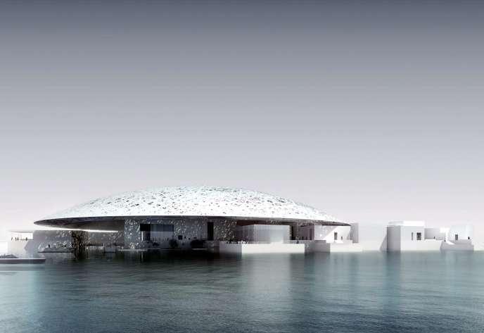 Le projet de Musée du Louvre à Abou Dhabi, réalisé par l'architecte Jean Nouvel (image de synthèse).