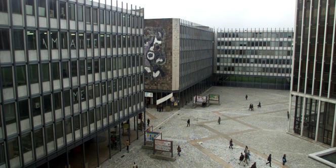 Une vue générale du campus de Jussieu, à Paris.