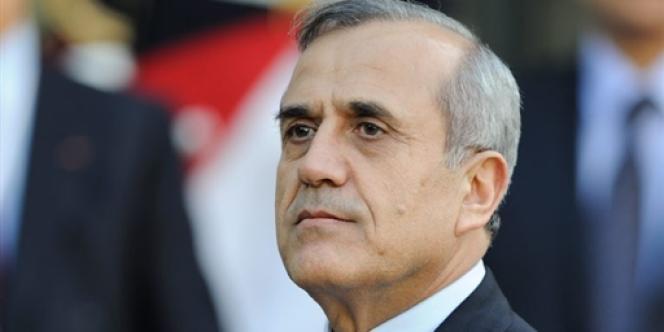 Le président libanais Michel Sleimane, à Paris, en mars 2009.