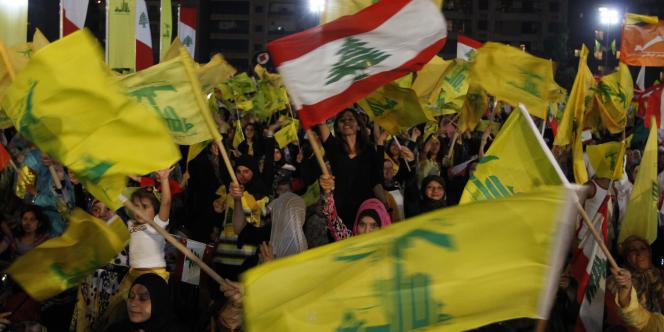 Manifestation de soutien au Hezbollah en mai 2009, à Beyrouth.