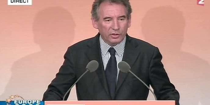 François Bayrou lors d'un discours au siège du MoDem à Paris, le 7 juin 2009.