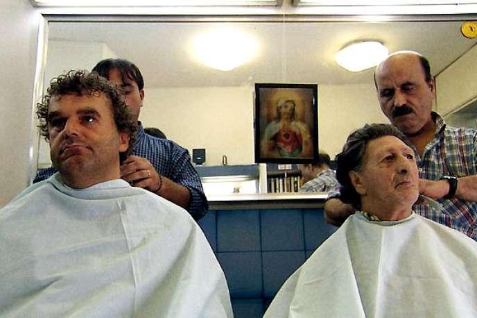 Pippo Delbono et Bobo (à droite) dans le film réalisé par Pippo Delbono, «Grido».