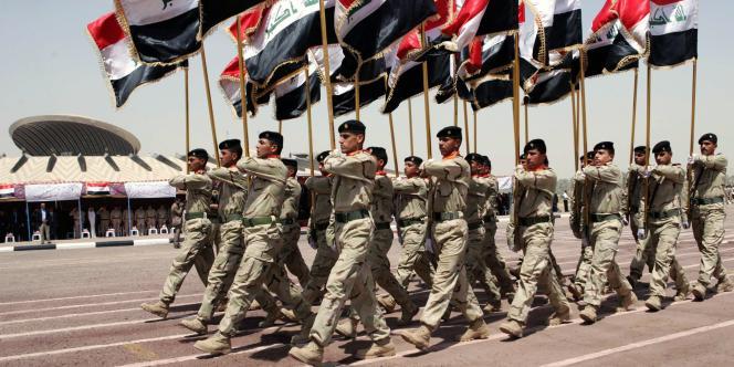 Parade à Bagdad pour le retrait des forces américaines d'Irak, le 30 juin 2009.